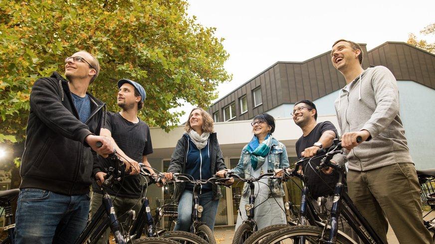 Freizeit Team Gruppe Sport Fahrrad