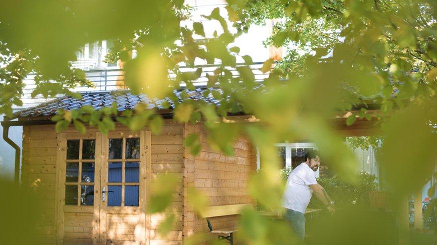Haus Außenansicht Außenbereich Garten Freizeit